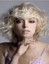 Парики из искусственных волос Волнистый Блондинка Блондинка Искусственные волосы Жен. Блондинка Парик Средние Без шапочки-основы