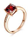 Cristal / Sintetic Ruby / Diamant sintetic Inel de declarație / Inel de Logodnă - Diamante Artificiale Vintage, Petrecere, Casual Pentru