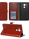 Pentru Carcasă Huawei / Mate 8 Portofel / Titluar Card / Cu Stand / Întoarce Maska Corp Plin Maska Culoare solida Greu PU piele Huawei
