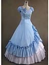 Medeltida kostymer Victoriansk Kostym Dam Klänningar Maskerad Festklädsel Vintage Cosplay Cotton Ärmlös Lång längd