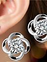 Pentru femei Cercei Stud Pietrele Lunilor stil minimalist de Mireasă costum de bijuterii Plastic Flower Shape Bijuterii Pentru Nuntă