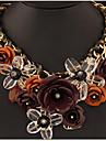 Pentru femei Coliere cu Pandativ Coliere Flower Shape Bijuterii Pietre sintetice Aliaj bijuterii de lux plaited Festival/Sărbătoare