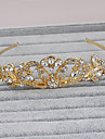 Rhinestone Tiaras Headwear with Floral 1pc Wedding Special Occasion Casual Office & Career Outdoor Headpiece