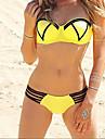 Femei Bikini / Tankini Femei Bustieră Monocolor Sutiene cu Întăritură Spandex