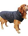 Câine Haine Γιλέκο Îmbrăcăminte de Iarnă Îmbrăcăminte Câini Reversibil  Keep Warm Reversibil Tartan/Carouri Bej Maro Rosu Verde Costume