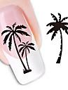 1pcs Vattenövergångsklistermärke 3D Nail Stickers Nail Stamping Mall Dagligen Abstrakt Mode Vackert Hög kvalitet