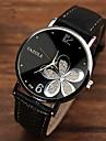 Pentru femei Ceas La Modă Quartz PU Bandă Floare Negru Maro