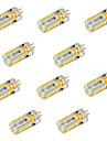 YWXLIGHT® 10pcs 600 lm G4 LED-lampor med G-sockel T 72 lysdioder SMD 3014 Dekorativ Varmvit Kallvit DC 24V AC 24V AC 12V DC 12 V