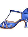 Pentru femei Balet / Pantofi Dans Latin / Pantofi Jazz Satin Sandale / Călcâi / Adidași Piatră Semiprețioasă / Cataramă / Decupat Toc