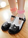 Pantofi pentru femei-Imitație de Piele-Toc Plat-Vârf Rotund-Pantofi Fără Toc-Outdoor / Rochie / Casual-Negru