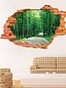 Landskap Botanisk Väggklistermärken Väggstickers i 3D Dekrativa Väggstickers, Vinyl Hem-dekoration vägg~~POS=TRUNC Vägg