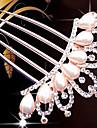 Imitație de Perle Îmbrăcăminte de păr Veșminte de cap Instrumentul pentru păr with Floral 1 buc Nuntă Ocazie specială Casual Diadema