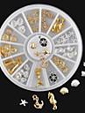 1PC Nail Smycken 3D Nail Stickers Klassisk Punk Dagligen Klassisk Punk Hög kvalitet