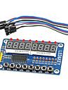 8-bitars ledde 8-bitars digital rör 8 tangenter tm1638 displaymodul för avr Arduino arm