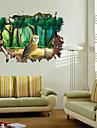 Animale / Botanic / Peisaj Perete Postituri 3D Acțibilduri de Perete,pvc 50*70CM