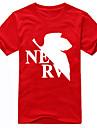 Inspire par NeonGenesis Evangelion Ayanami Rei Manga Costumes de Cosplay Cosplay T-shirt Imprime Manches Courtes Tee-shirt Pour Unisexe