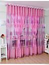 Un Panou Tratamentul fereastră Țara Sufragerie Poliester Material Sheer Perdele Shades Pagina de decorare For Fereastră