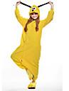 Pijama Kigurumi Câini Pijama Întreagă Costume Lână polară Galben Cosplay Pentru Adulți Sleepwear Pentru Animale Desen animat Halloween