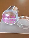 1 stämpling Plate Nail Stamping Mall Dagligen Mode Hög kvalitet