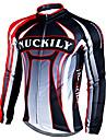 Nuckily Veste de Cyclisme Homme Manches Longues Velo Maillot Hauts/Top Etanche Garder au chaud Pare-vent Bandes Reflechissantes Polyester