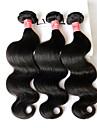 Kroppsvågor Hårförlängning av äkta hår Brasilianskt hår 100+/-5 8-28 Människohår förlängningar