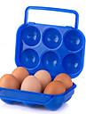dublu caseta de ou blocare portabil caseta de picnic în aer liber, cu ouă mâner de culoare aleatorii