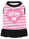 Katt Hund Klänningar Hundkläder Andningsfunktion Mode Blommig/Botanisk Purpur Rosa Kostym För husdjur
