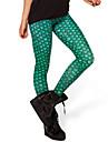 Feminin Imprimeu Culori Mate Legging,Polyester Mediu