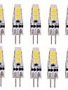 YWXLIGHT® 10pcs 2W 200 lm G4 Becuri LED Bi-pin T 6 led-uri SMD 5730 Decorativ Alb Cald Alb Rece DC 12V