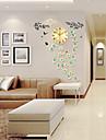 Noutate / Altele Modern/Contemporan Ceas de perete,Florale/Botanice / Animale / Scenic / Nuntă / Familie Sticlă / Metalic97cm x 43cm(