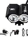 Pannlampor Cykellyktor Framlykta LED 3000 lm 4.0 Läge LED med batteri och laddare Uppladdningsbar Vattentät Nödsituation Cykling