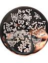 olika fjäril nagel konst stämpling mallbildplatta född vackra bp74