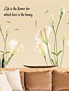 Botanic Romantic Natură moartă Modă Florale Peisaj Fantezie Perete Postituri Autocolante perete plane Autocolante de Perete Decorative,