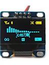 """0.96 """"tommer gul og blå I2C IIC serielle 128x64 oled lcd oled førte modul til Arduino display 51 msp420 stim32 scr"""