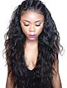 Äkta hår Hel-spets / Spetsfront Peruk Brasilianskt hår Vågigt / Naturligt vågigt Med babyhår 130% Densitet Naturlig hårlinje /