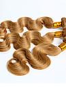 Peruanskt hår Kroppsvågor Hårförlängning av äkta hår 3 delar 0.3