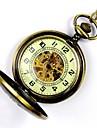 Bărbați Ceas de buzunar ceas mecanic Mecanism automat Gravură scobită Aliaj Bandă Auriu
