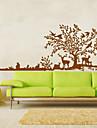 mari decalcomanii copac animale cerb perete păsări autocolant decor perete pentru familie