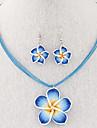 Pentru femei Set bijuterii - Floare Vintage, Modă, Elegant Include Cercei Picătură / Coliere cu Pandativ / Colier / cercei Rosu / Albastru / Roz Pentru Nuntă / Petrecere / Zilnic