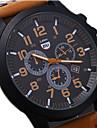Bărbați Ceas Militar  Ceas de Mână Ceas Sport Quartz Calendar Rezistent la Apă Piele Bandă Negru Maro Verde Gri
