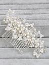 Perle Îmbrăcăminte de păr Veșminte de cap with Floral 1 buc Nuntă Ocazie specială Casual Birou și carieră În aer liber Diadema