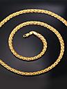 Női Nyakláncok Nyilatkozat nyakláncok Figaro lánc Darabos Foxtail lánc Križ hölgyek Divat Dubai Arannyal bevont 18 ezer arany kitöltve Ezüst Aranyozott Vörös arany Nyakláncok Ékszerek Kompatibilitás