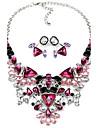 Dame Seturi de bijuterii Colier / cercei stil minimalist La modă bijuterii de lux European Pietre sintetice Teracotă Aliaj Coliere