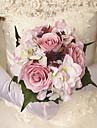 """Flori de Nuntă Rotund Trandafiri Bujori Buchete Nuntă Petrecere / Seară Satin 10.24""""(Approx.26cm)"""