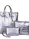 Femei Genți Toate Sezoanele PU Seturi de sac Set de pungi 3 buc pentru Nuntă Evenimente/Petrecere Casual Oficial Auriu Negru Argintiu