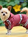 Câine Haină de ploaie Îmbrăcăminte Câini Impermeabil Solid Galben Rosu Verde