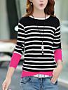 Pentru femei Mărime Plus Size Plover - Dungi, Stil Clasic