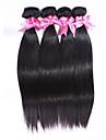 Tissages de cheveux humains Cheveux Indiens Droit 4 Pieces tissages de cheveux
