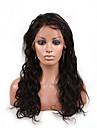 Äkta hår Spetsfront Peruk Kroppsvågor 130% Densitet 100 % handbundet Afro-amerikansk peruk Naturlig hårlinje Korta Mellan Lång Dam Äkta