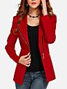 Femei Palton Plus Size / Ieșire Vintage,Mată ¾ Manșon / Manșon Lung Toamnă / IarnăRoșu / Negru Subțire Bumbac / Altele